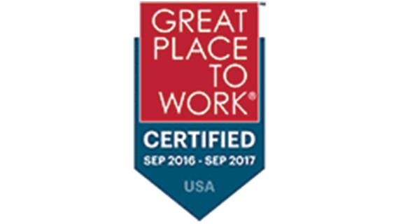 Great Place to Work - Certified, September 2016–September 2017, USA