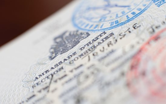 Page from a passport